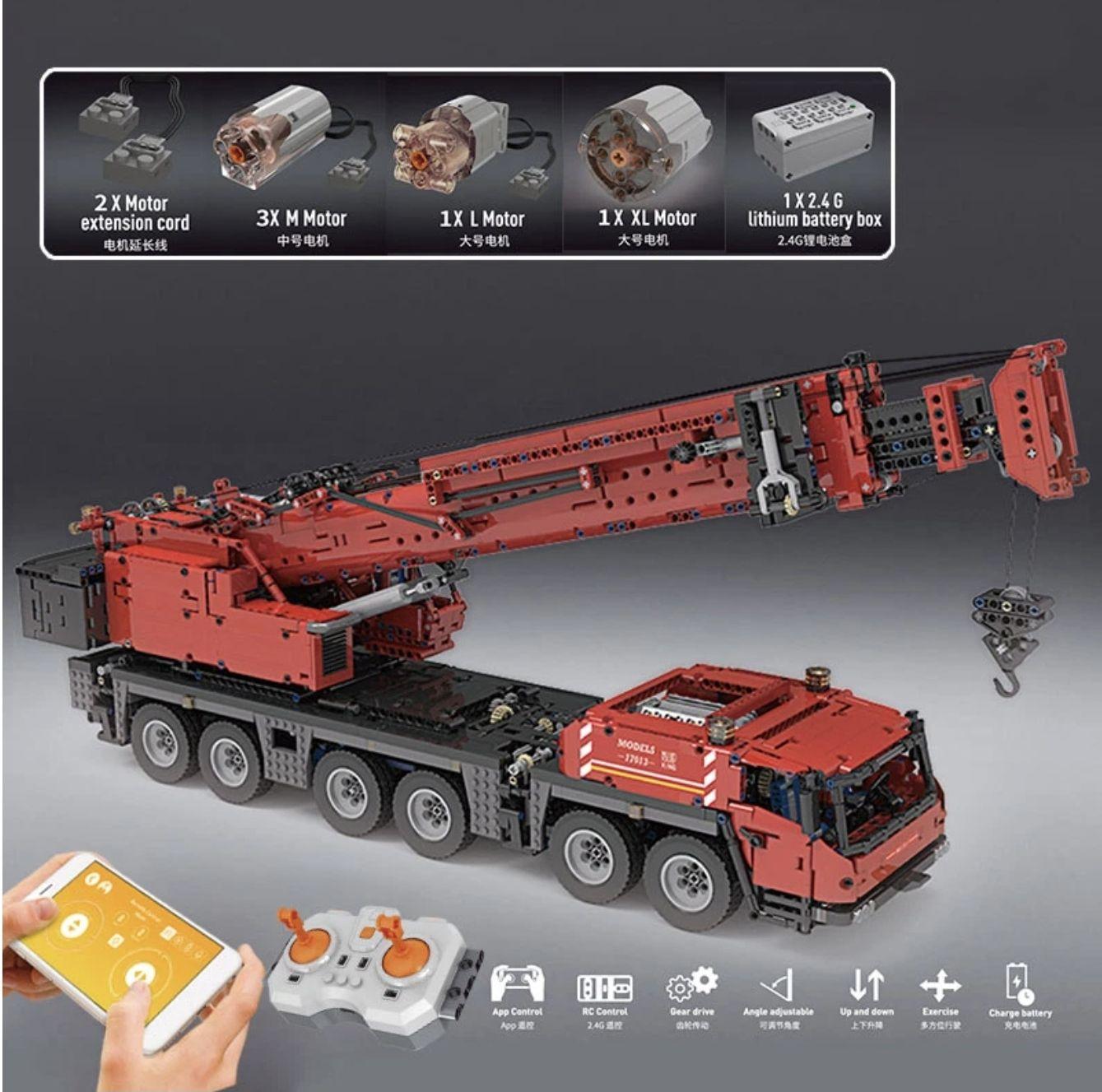 MouldKing 17013 Grove GMK Crane mit 4460 Teile Autokran aus Klemmbausteine mit 5 Motoren