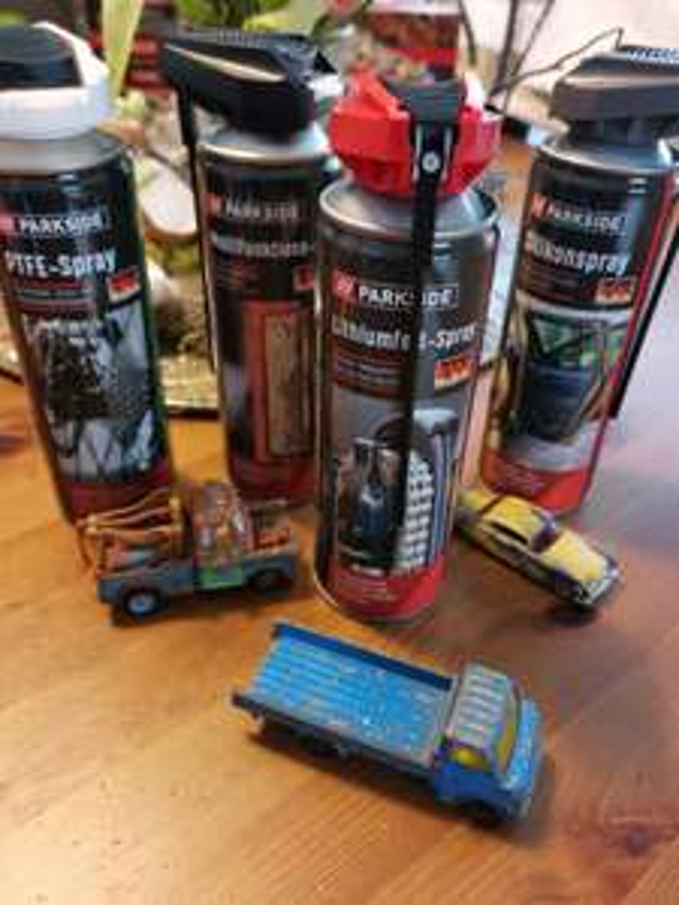Lidl 1,99€ Multifunktionsöl / Lithiumfett / PTFE Spray / Silikonspray