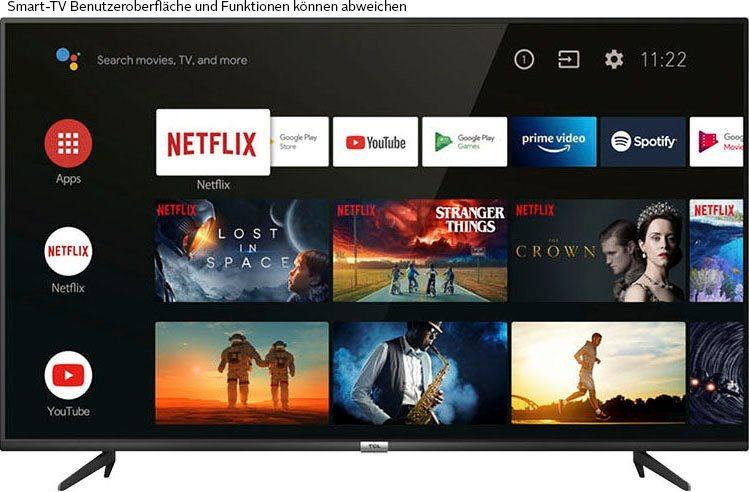 TCL 43P616X1 LED-Fernseher EEK:E (108 cm/43 Zoll, 4K Ultra HD, Smart-TV, Android 9.0 Betriebssystem)