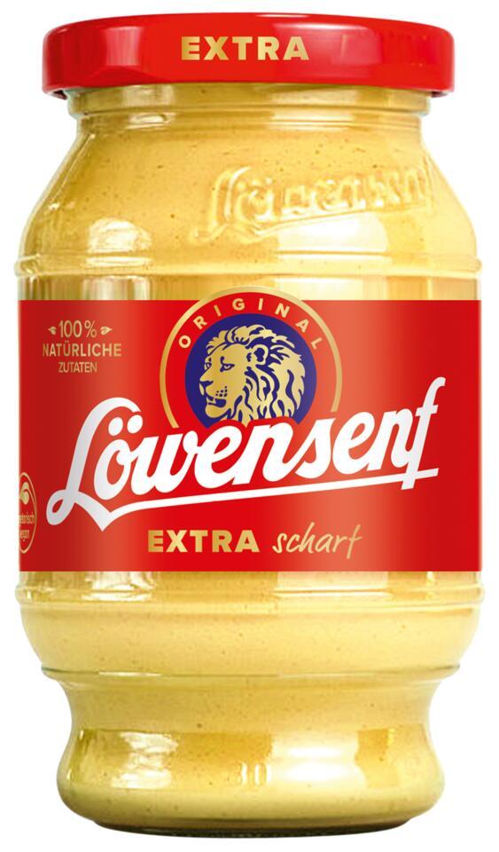 JAWOLL SONDERPOSTEN : Löwensenf 250ml ÷extra scharf÷ im Glas , ( auch Bautz'ner Brutzel Sauce sweet chilli für 250ml Flasche 49 Cent)