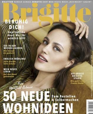Brigitte Halbjahresabo (13 Ausgaben) + 50 Euro Amazon Gutschein