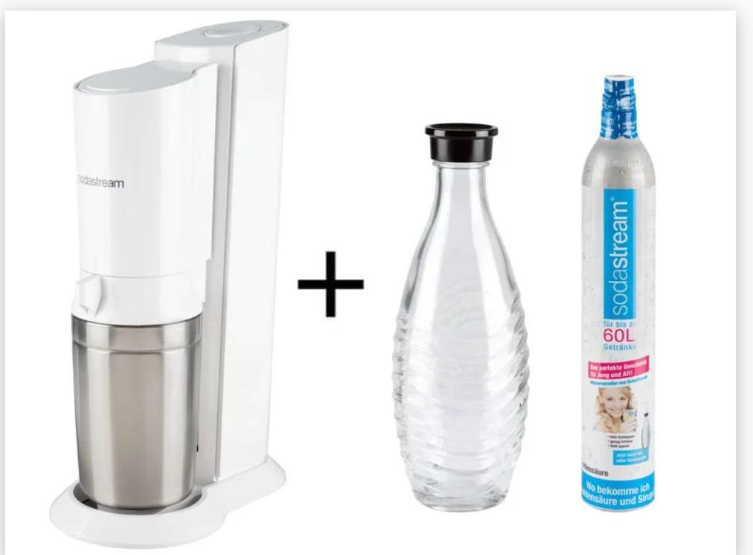 [Lidl-Plus-App] SodaStream Crystal 2.0 weiß incl. einer Karaffe und CO2-Zylinder