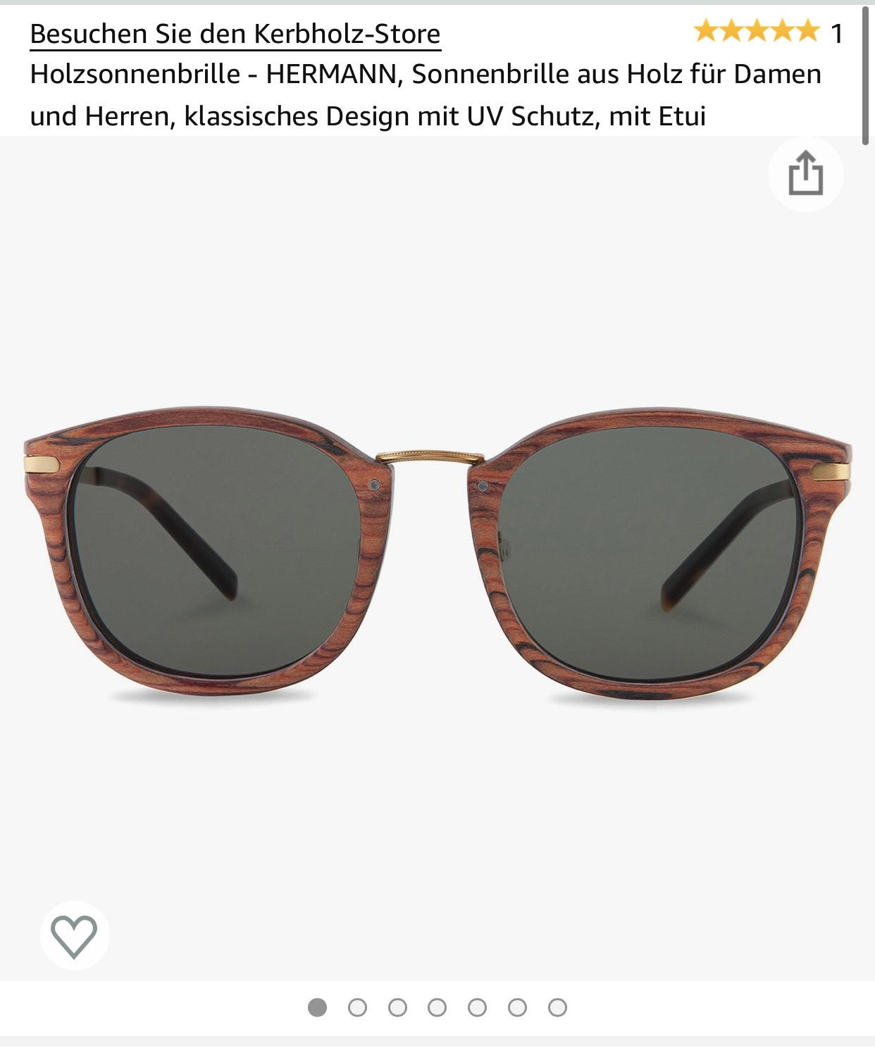 Preisfehler - Holzsonnenbrille HERMANN von Kerbholz mit Amazon Prime Versand