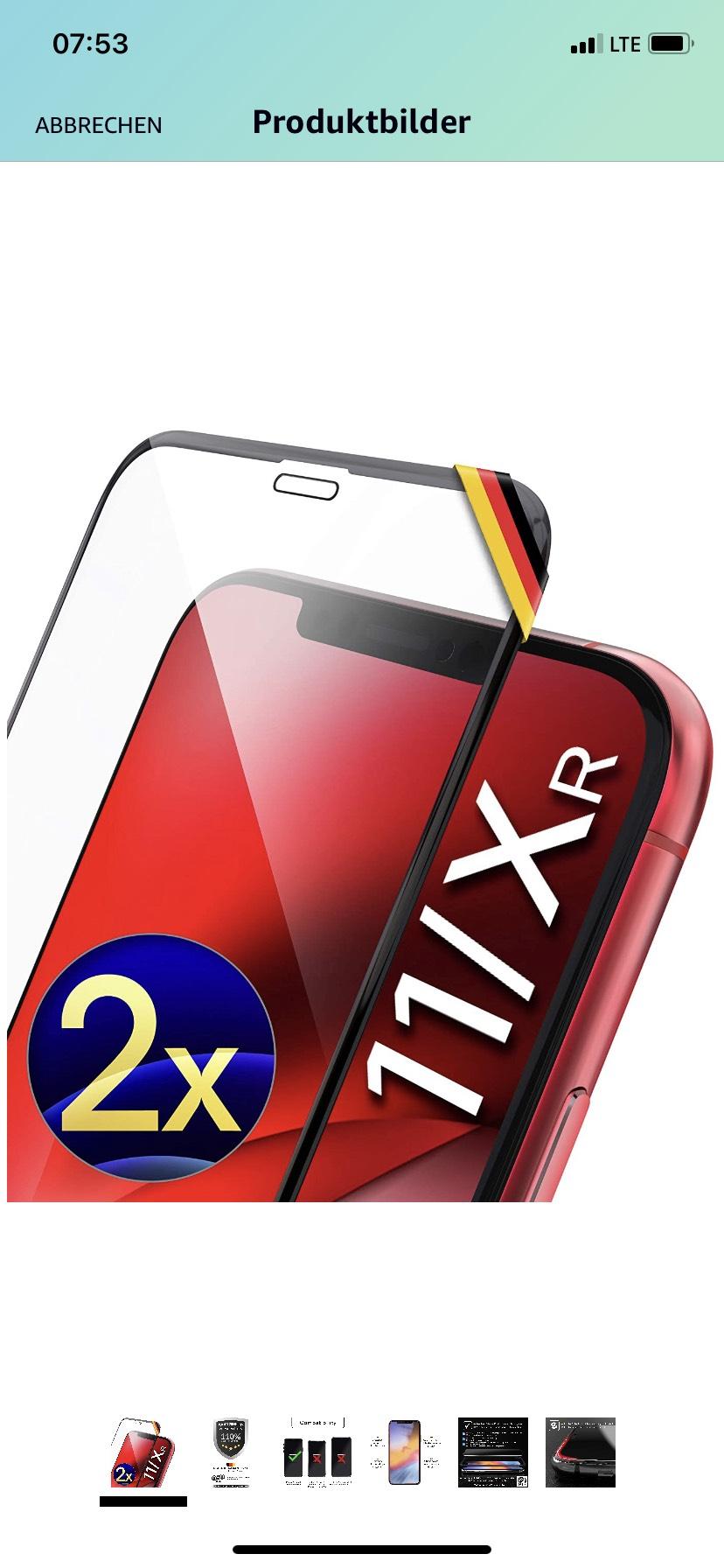 [Prime] 2 Display-Gläser für iPhone XR/11