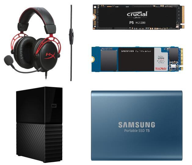 Crucial P5 SSD 1TB, M.2 - 101€   SanDisk Ultra NVMe SSD 1TB M.2 - 89€   WD MyBook 6 TB HDD CMR - 90,09€   HYPERX Cloud Alpha für 69€   u.a.