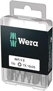 Wera Bit Sortiment, 867/1 TX 10 DIY, TX 10 x 25 mm (10 Bits pro Box) @amazon