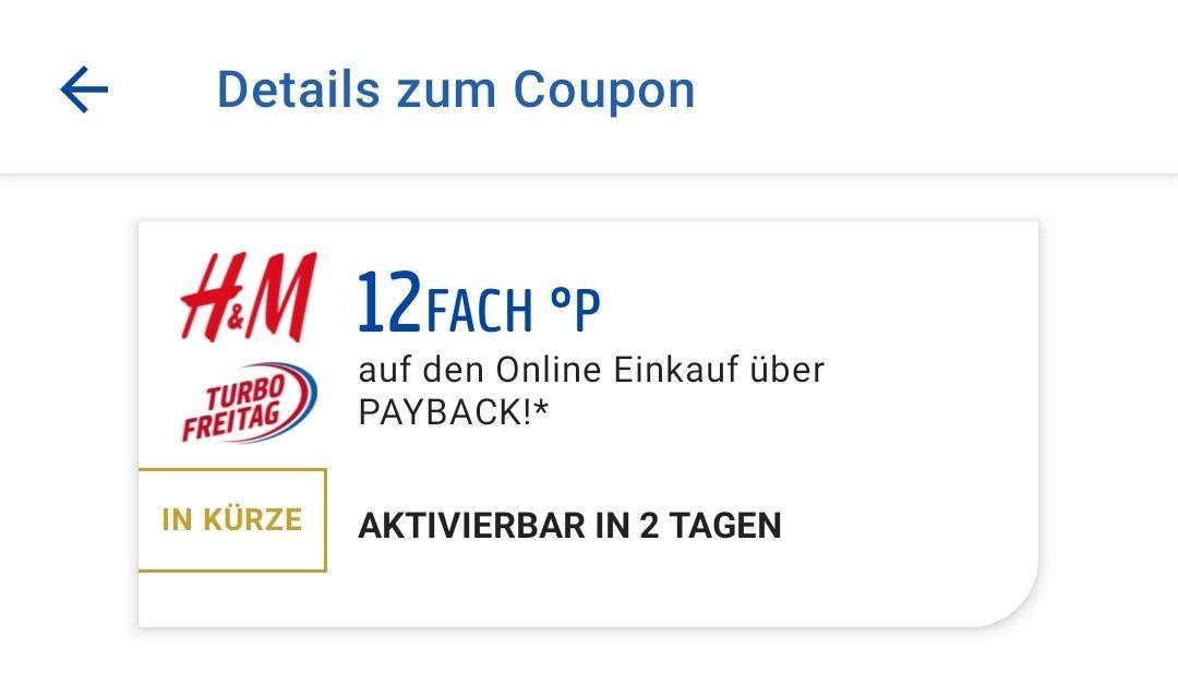[Payback] Turbo Freitag bei H&M 12-fach Punkten + 15% GLAMOUR Shopping Week Gutschein