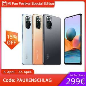 "Xiaomi Redmi Note 10 Pro - 8GB /128GB /6,67"" 120Hz /108MP /EU Version @Ebay (Vorbestellung)"