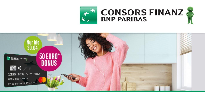 50€ Bonus für die gebührenfreie Consors Finanz MasterCard