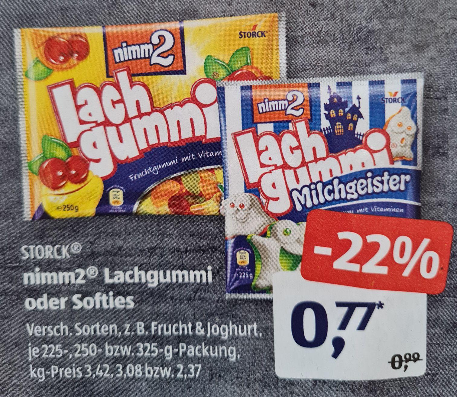Storck® nimm2® Lachgummi oder Softies verschiedene Sorten und andere Angebote ab 12.04 Aldi Süd und Rewe