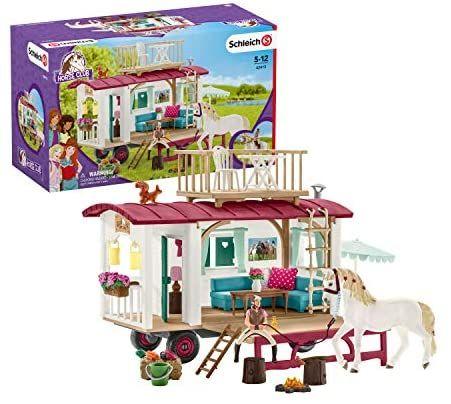 Schleich 42415 Horse Club Spielset - Wohnwagen für geheime Club-Treffen, Spielzeug ab 5 Jahren [Amazon]