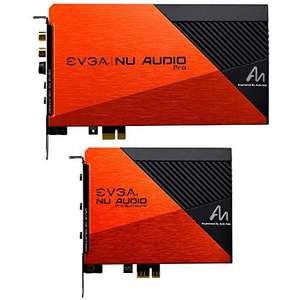 EVGA NU Audio Pro 7.1 Soundkarte PCIe mit Backplate, Designed with Audio Note