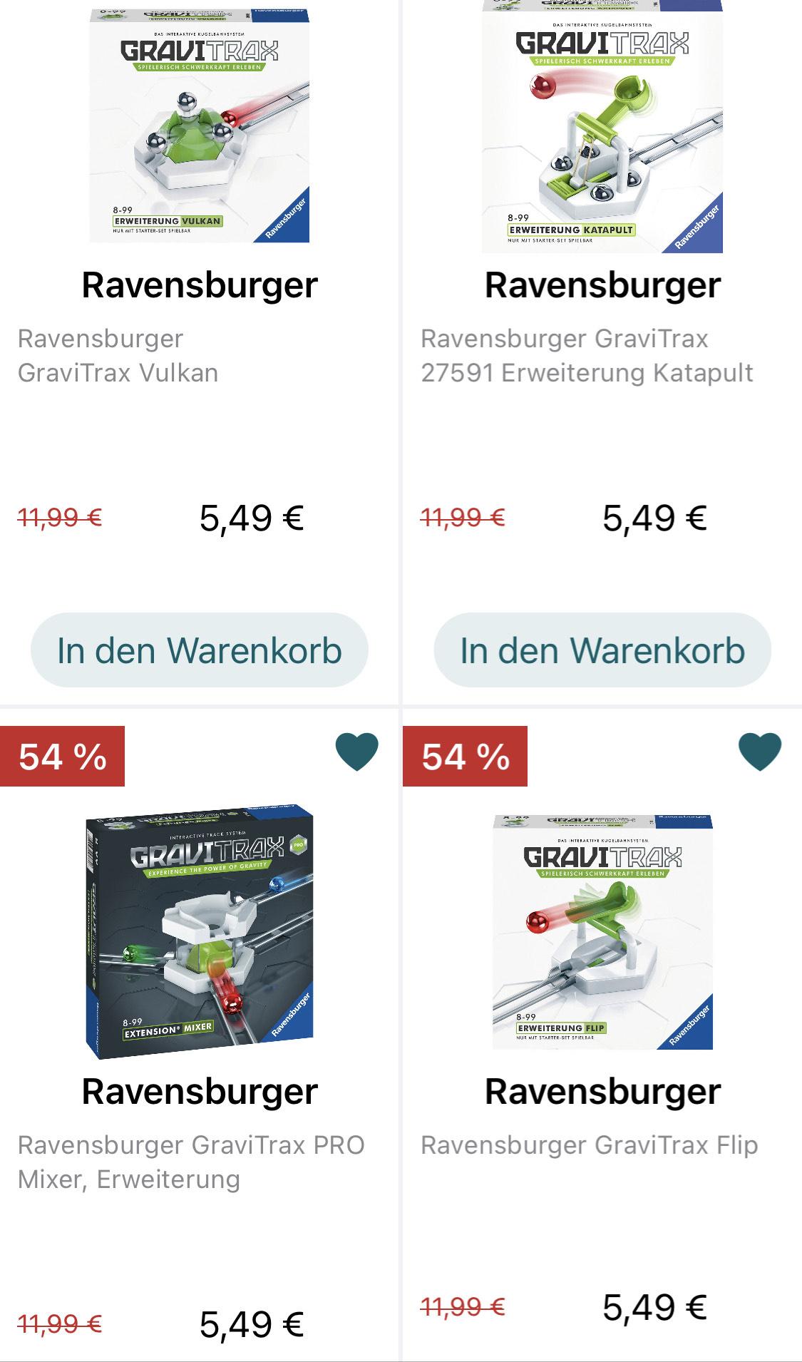 Diverse Gravitrax-Erweiterungen für 5,49 €