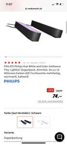 Media Markt / Phillips Hue Lightbar 74€ sofort lieferbar