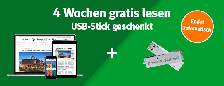 Hamburger Abendblatt kostenlos und selbstkündigend + USB-Stick gratis