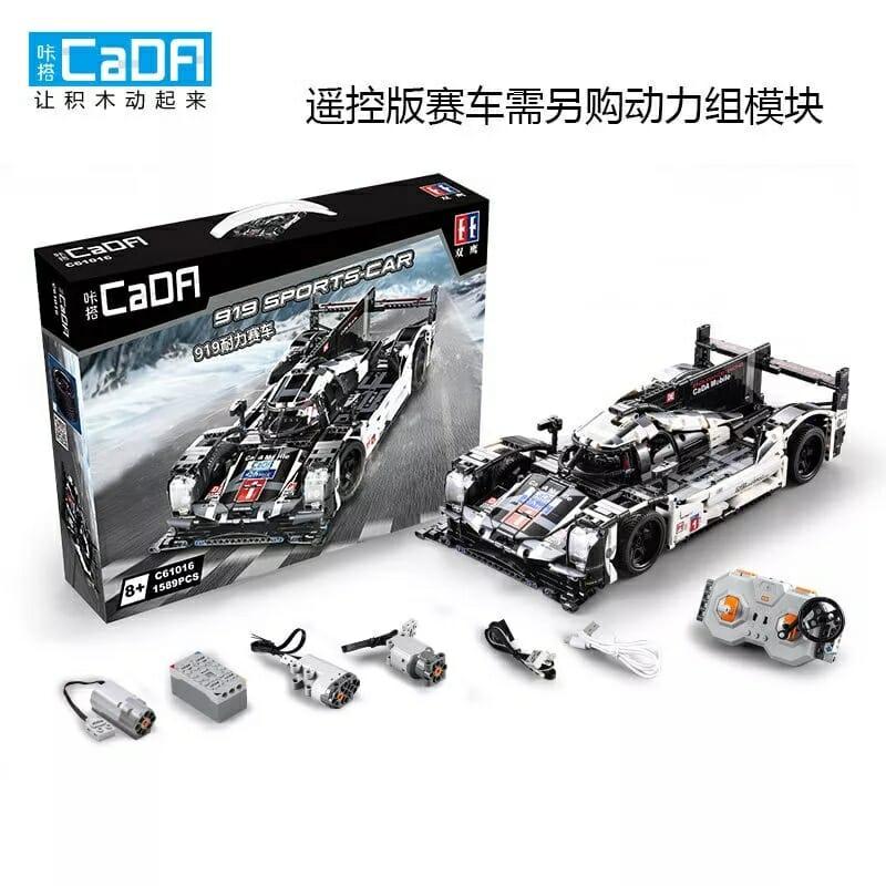 CaDA 919 Sports-Car C61016W in OVP 1586 Teile - 1:9.5 / ohne OVP: 40,36€ / mit Power Functions und OVP: 75,65€ Klemmbausteine Set