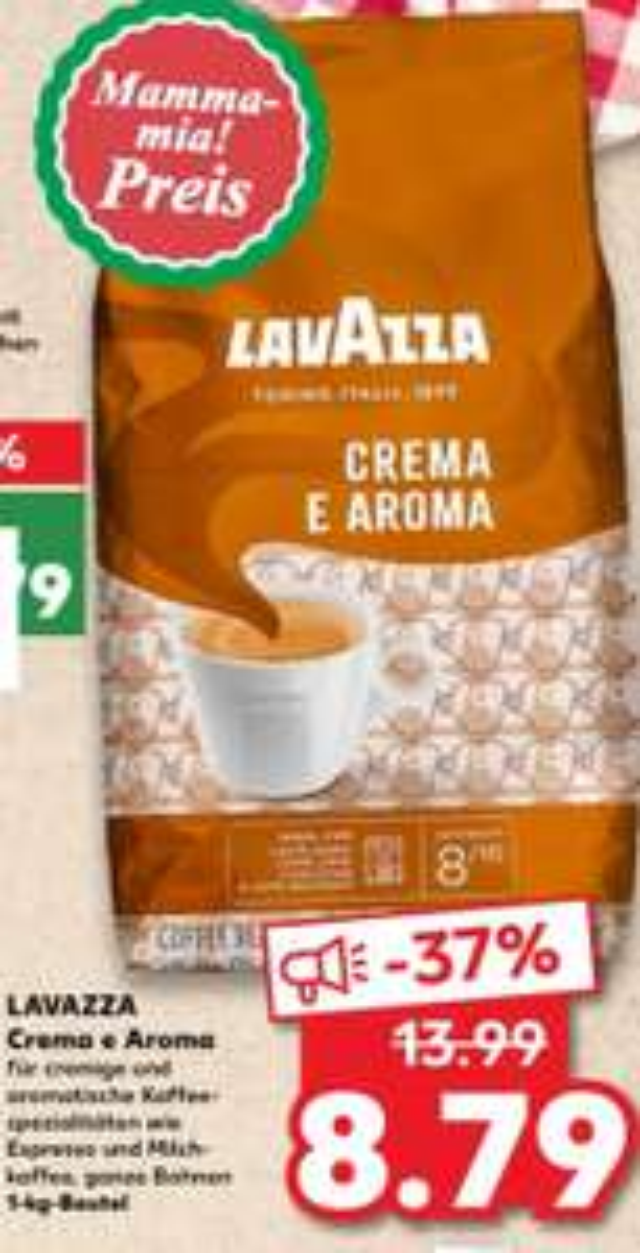 LAVAZZA Kaffeebohnen Crema e Aroma [Kaufland]