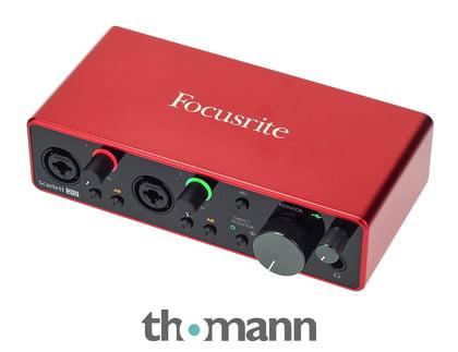 Focusrite Scarlett 2i2 (3rd Gen) + AmpliTube 5 SE gratis dazu