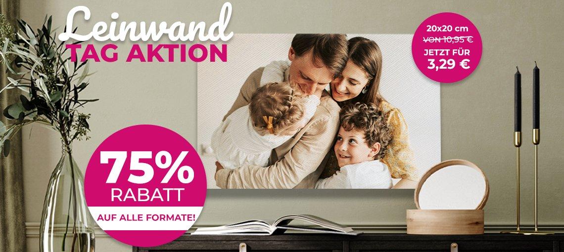 [Lieblingsfoto] 75% Rabatt auf alle Leinwände - 90 x 60cm für 16,24 EUR