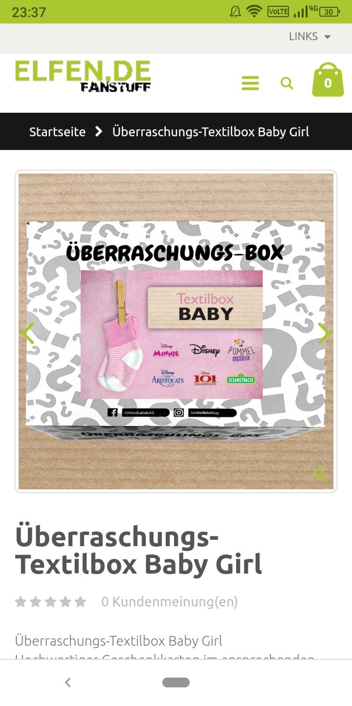 Elfen.de Überraschungs-Textilbox Baby Girl