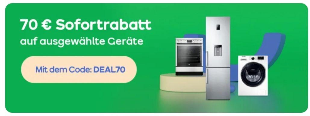 ao 70 Euro Rabatt auf ausgewählte Geräte mit dem Code: DEAL70 bis 14.04 um 12 Uhr Gratis Standardlieferung