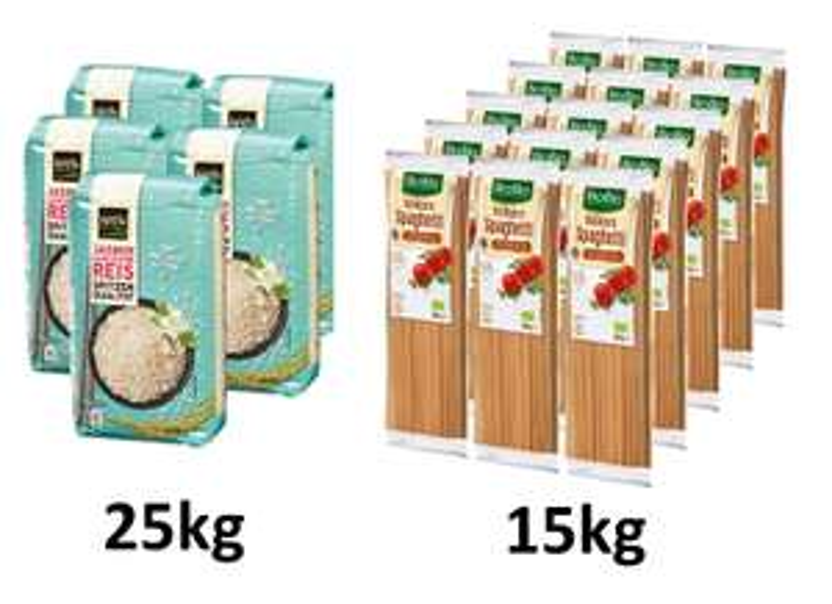 Vorratspaket: 25kg Satori Jasmin-Reis (1,43€/kg) & 15kg BioBio Vollkorn Spaghetti (1,35€/kg) für 55,99€ inkl. Versand