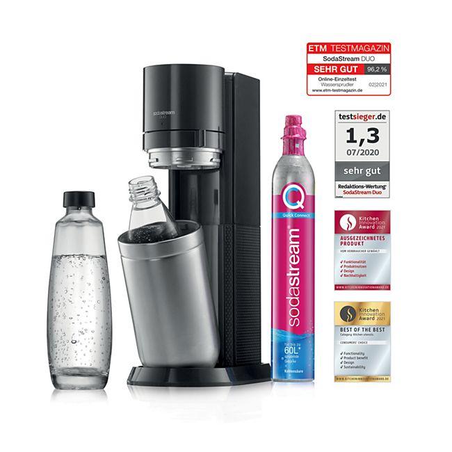 [Netto MD online] SodaStream DUO Wassersprudler titan inkl. 1 Glas- und 1 Kunststofflasche