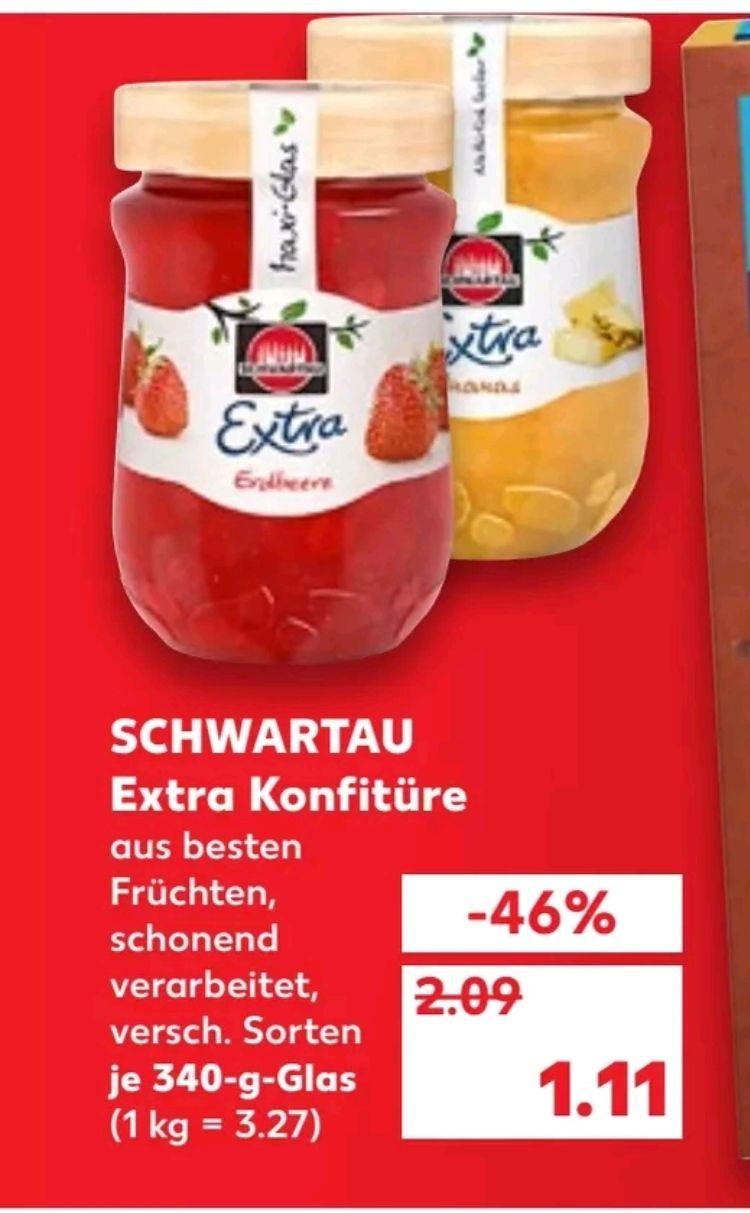 Kaufland regional (ehemals Real Filialen) - Schwartau Extra Konfitüre Bio (Coupies eff. 0,11€)