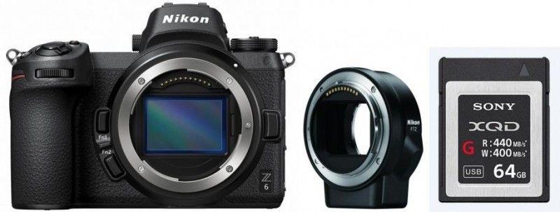 Nikon Z6 Systemkamera inkl FTZ Objektivadapter & 64GB XQD Karte