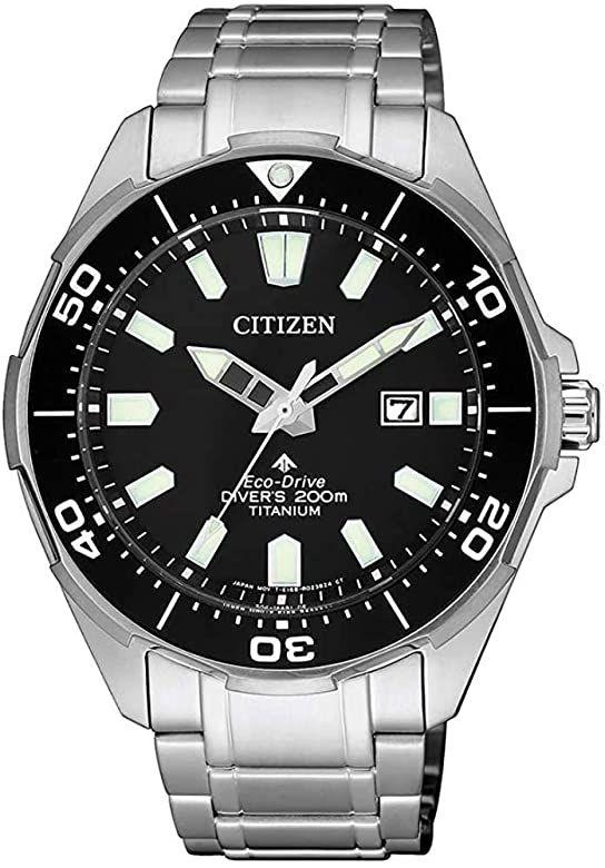 Citizen Diver Promaster Eco-Drive Super-Titanium Solar-Uhr (44 mm, Titangehäuse, Datumsanzeige, Kristallglas, wasserdicht bis 20 bar)
