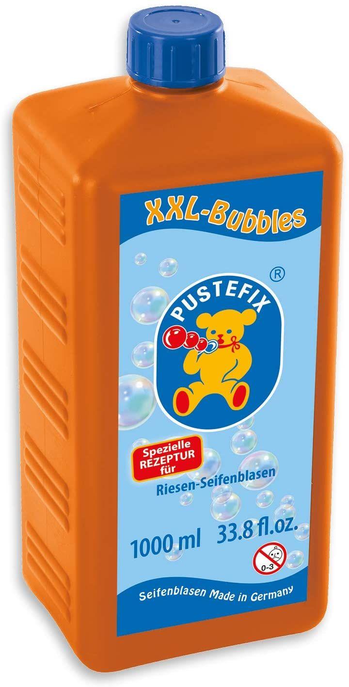 PUSTEFIX XXL-Bubbles Nachfüllflasche Maxi für Riesen-Seifenblasen (1000ml) [Prime l Abholstation]