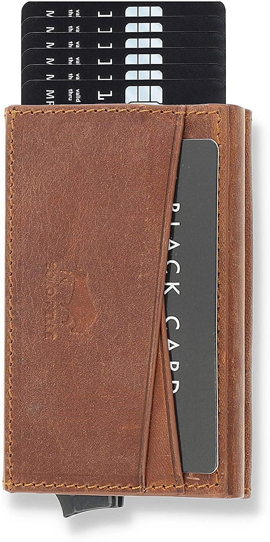 Leder Kartenetui von Solo Pelle (RFID Schutz, für bis zu 7-8 Kreditkarten, 4 verschiedene Farben)