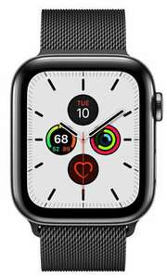 [eBay] Apple Watch 5 Edelstahl Schwarz Milanese Armband 44mm + LTE