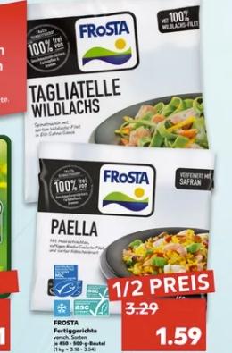 [Regional Kaufland-ehemals Real Filialen ab 15.04] Frosta Fertigerichte je 450g - 500g Beutel für unschlagbare 1,59€