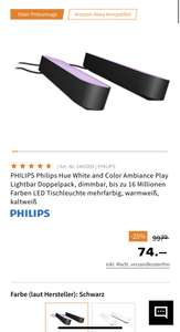 PHILIPS Philips Hue White and Color Ambiance Play Lightbar Doppelpack