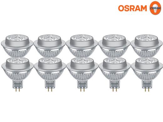 10x Osram LED-Spots (GU5.3, 7.8 W, 500 lm, Abstrahlwinkel 36°, IP 65, Dimmbar, Warmweiß) [iBOOD]