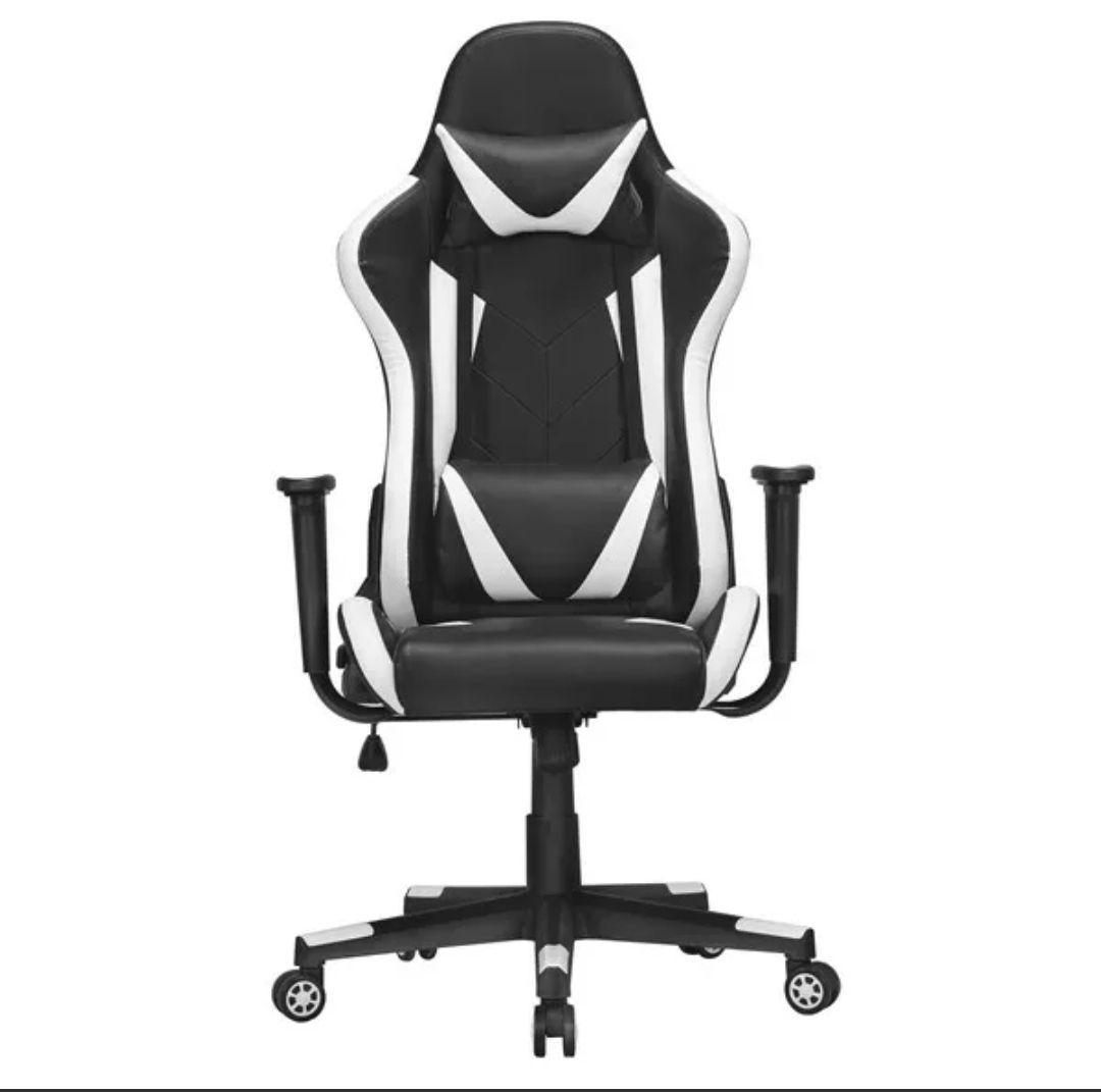 Gaming Stuhl Bürostuhl Drehstuhl Sportsitz Chefsesse Ergonomisches Design Weiß - gebraucht