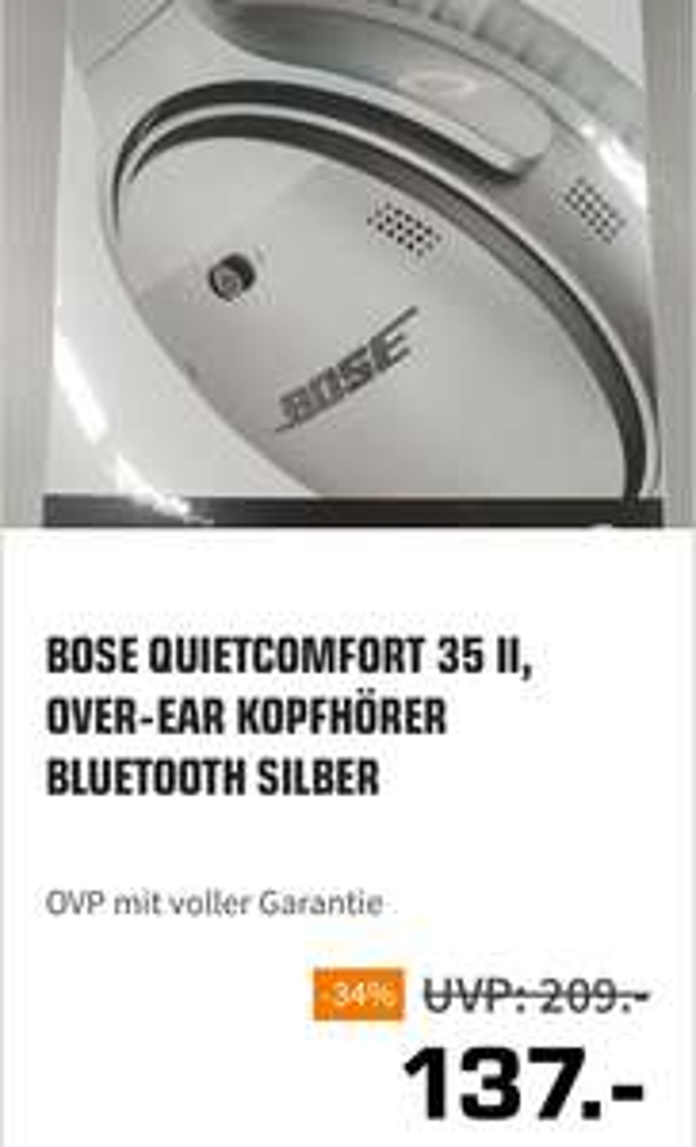 Saturn Troisdorf BOSE QUIETCOMFORT 35 II Silber