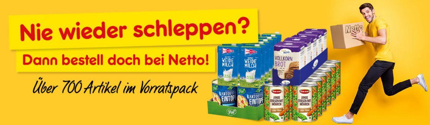 10 % auf alle Lebensmittel im Netto Online Shop!