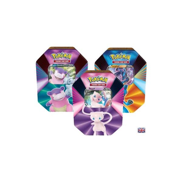 Pokémonkarten Tin Boxen Mew+Lucario+Lahmus