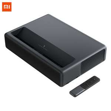 Xiaomi Mijia 4K Laser Home Cinema Projector (1920x1080 mit XPR2 Shift, 1300lm, Ultrakurzdistanz, 3x HDMI 2.0, WLAN, 2x 15W, Android TV 9.0)