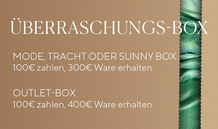 [Dollinger] Damen Herren Überraschungsbox: Mode für 300 / 400 € erhalten. Young Fashion, Tracht, Mode und Outlet Waren