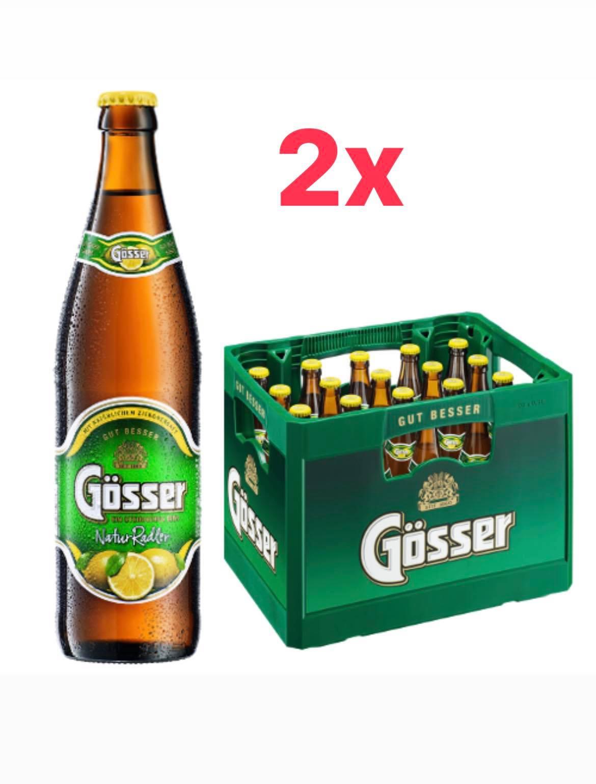 Gösser Natur Radler, 2x 20 x 0,5l für 22€ (zzgl 3,10€/Kasten Pfand) [Netto Marken-Discount - wohl regional]