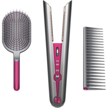 [MEDIMAX] Dyson Corrale Haarglätter+Brushkit - Fuchsia-Nickel Glätteisen Haarglätter