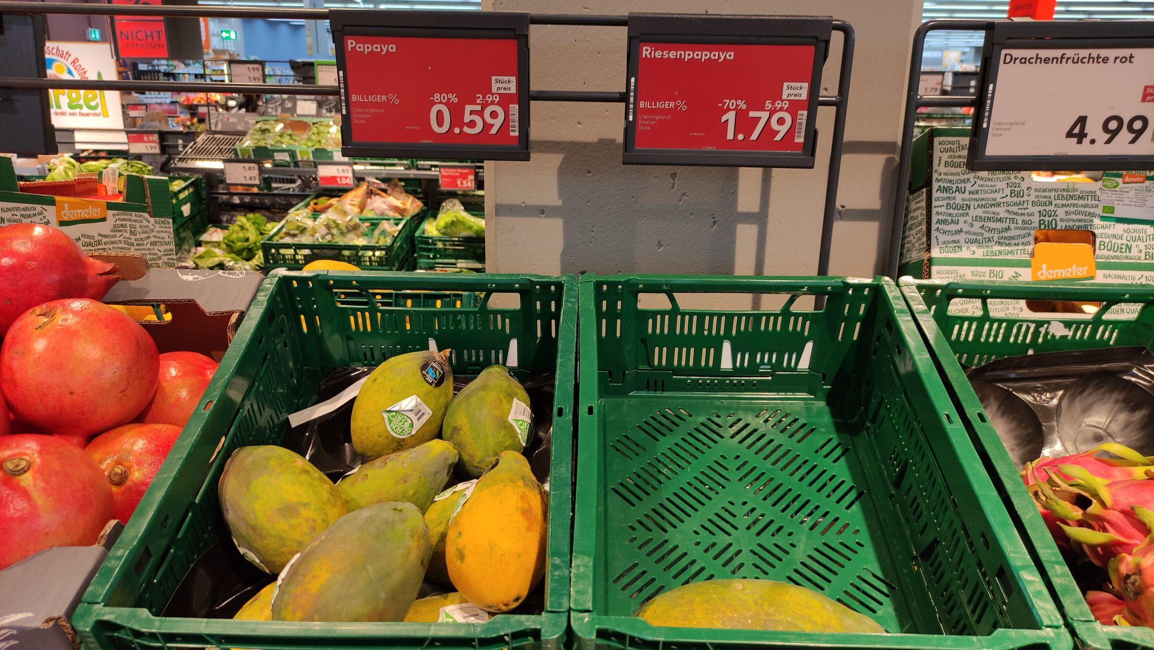 Papaya klein/groß für je 0,59€/1,79€ [lokal Kaufland Nürnberg]