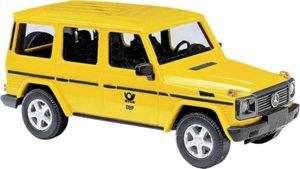 """[Müller online](Filiallieferung) Busch Automodelle H0/1:87 Sammeldeal, z.B. 51429 Mercedes-Benz G-Klasse 1990 """"Deutsche Post"""""""