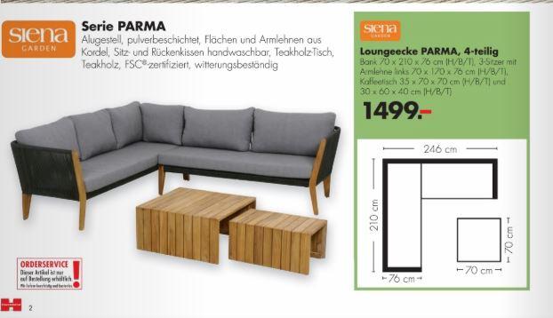 Lounge Garnitur Siena Garden Parma