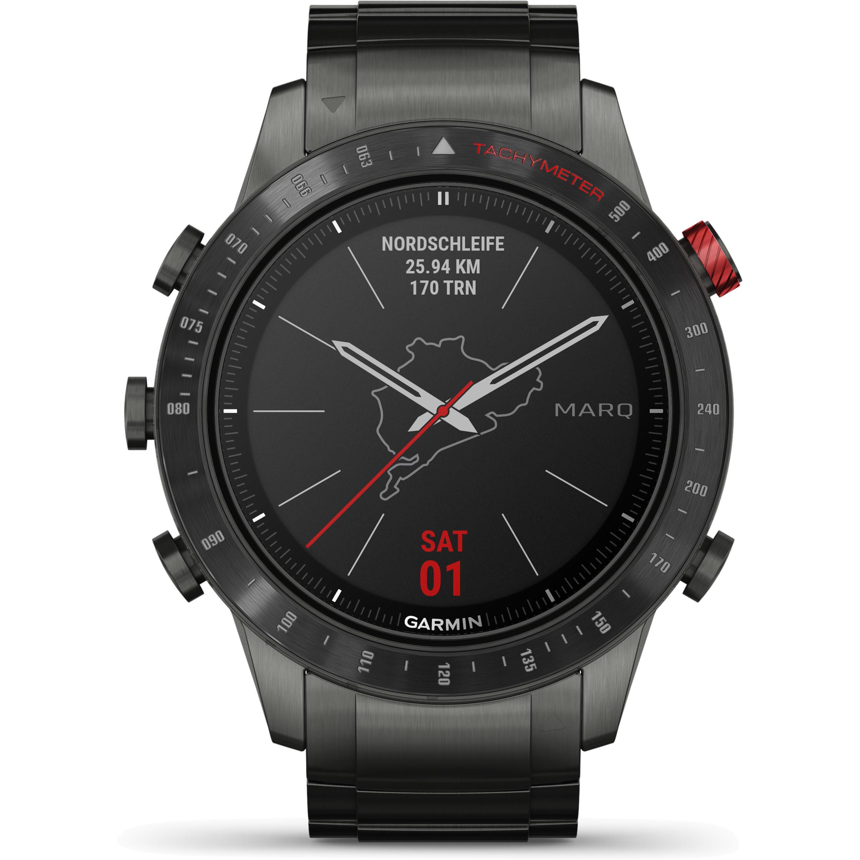 Garmin MarQ Driver / Aviator / Commander Smartwatch (46 mm Titangehäuse, Saphirglas, Sauerstoffsättigung, Offline-Karten, Musik, uvm.)