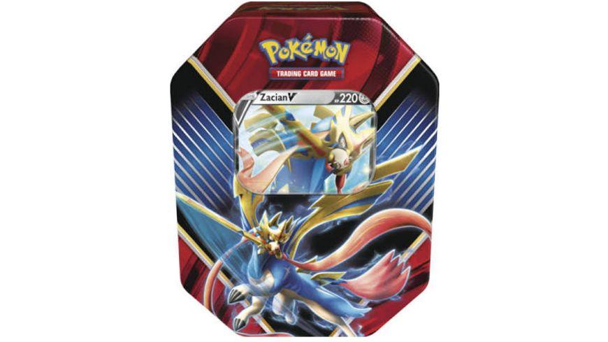 (Pokémon)Tin-Box Galar-Legende Zacian-V & Tin-Box Galar-Legende Zamazenta-V