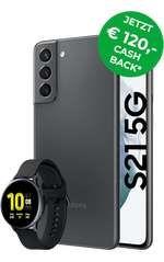 [Young MagentaEINS] Samsung Galaxy S21 128GB mit Watch Active 2 44mm im Telekom Magenta Mobil S (12GB 5G) mtl. 29,95€ einm. 53,99€
